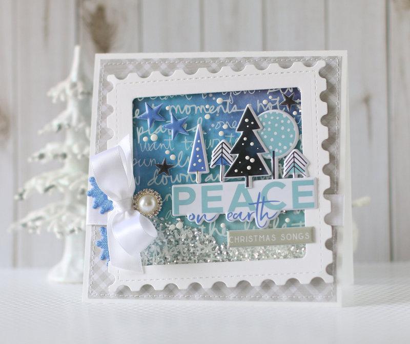 """Peace on Earth"" shaker card"
