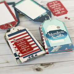Tag shaped mini books