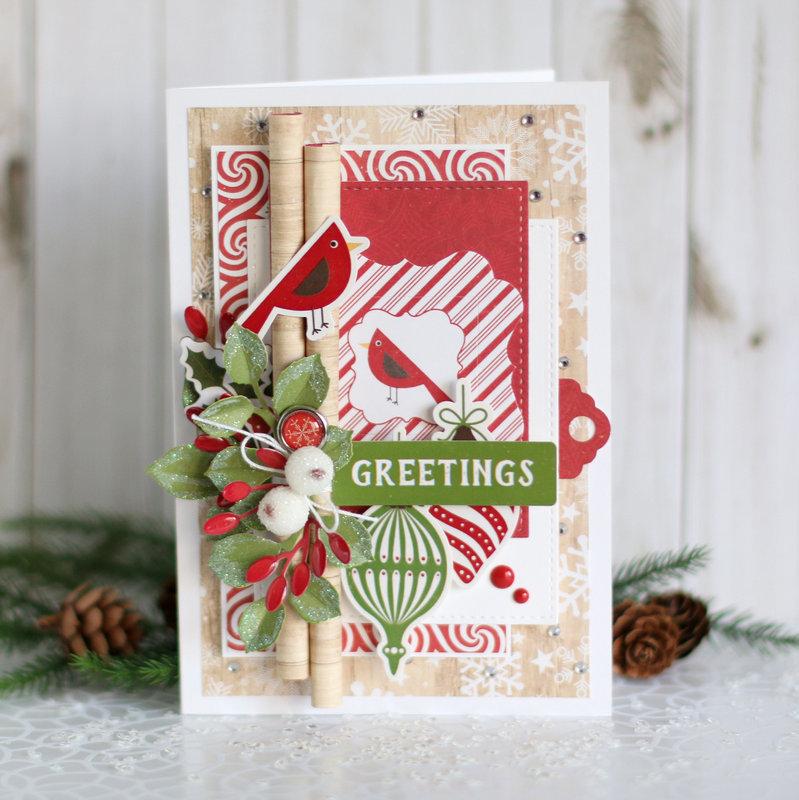 """""""Greetings"""" Christmas card"""