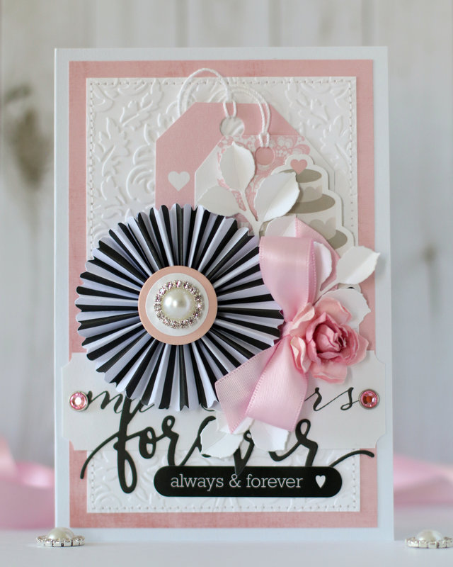 """Forever"" wedding card"