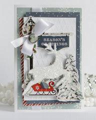 Carta Bella paper Christmas card