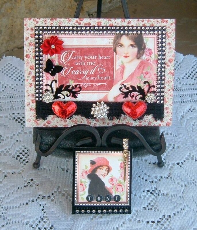 """"""" Card for Toni Burk for RB Valentine Loaded Tag Swap """""""
