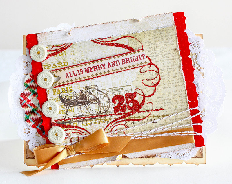 All is merry and bright Christmas card