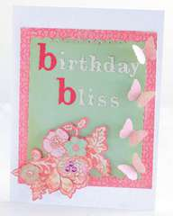 Birthday bliss and butterflies card