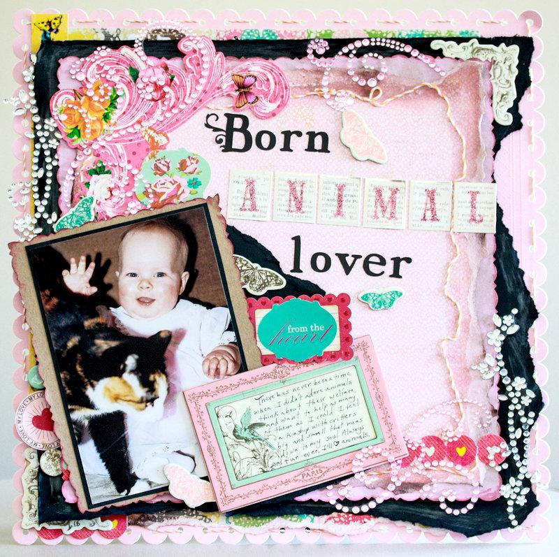 Born Animal Lover layout