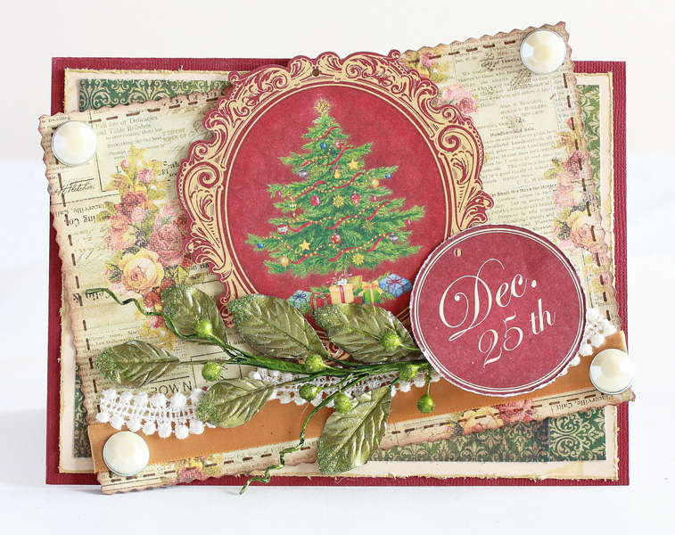 Victorian inspired Dec. 25th Christmas card