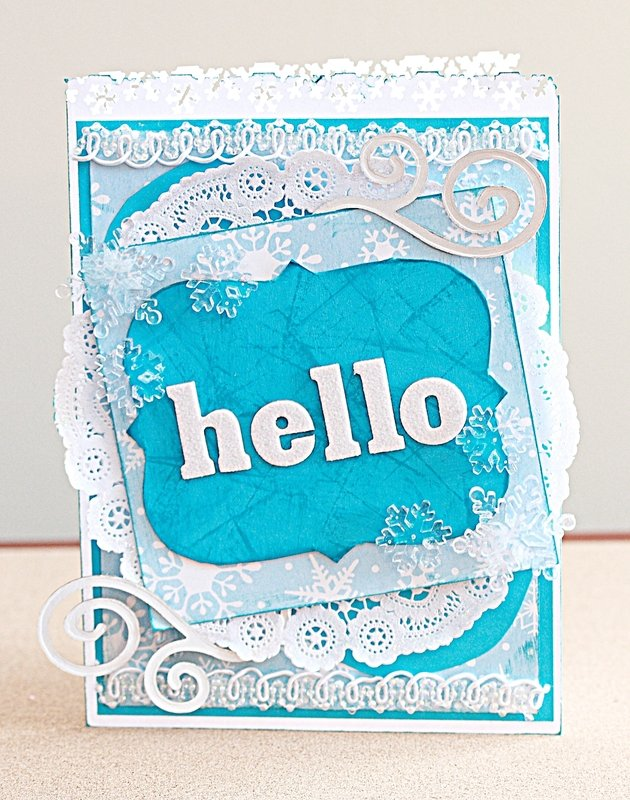 Hello winter layered card