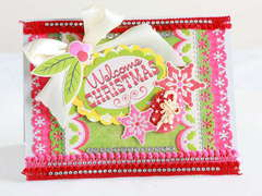 Red and pink Welcome Christmas card