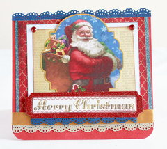 Merry Christmas Santa Claus layered card