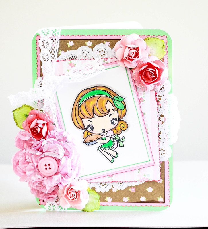 Sweetest Belated Birthday Wishes girly shabby chic card
