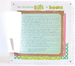 Hidden journaling (The invaluable giftt of home LO)