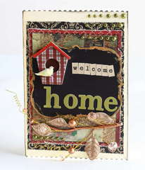 Welcome home birdhouse card