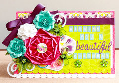 Wishing You a Beautiful Birthday flower filled card