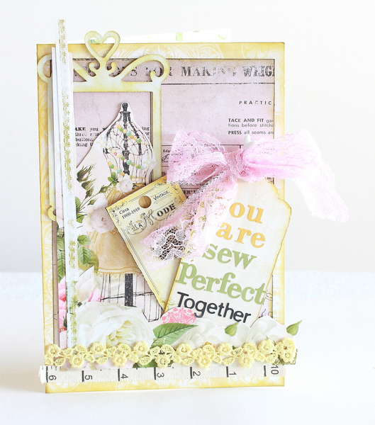 You are sew perfect together (anniversary) card