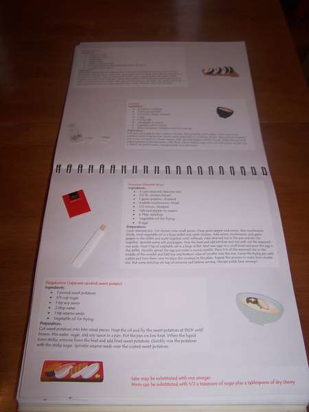 Japanese cookbook page