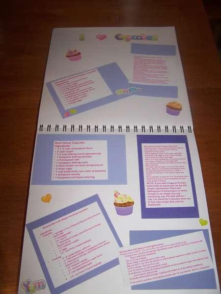cupcake cookbook page