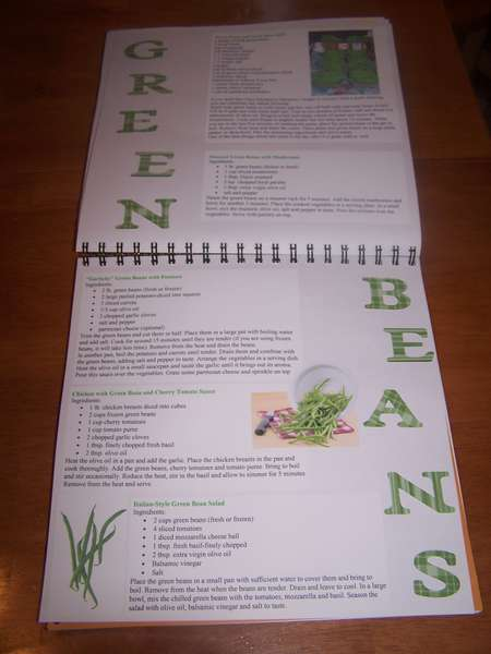 Green Beans Cookbook page