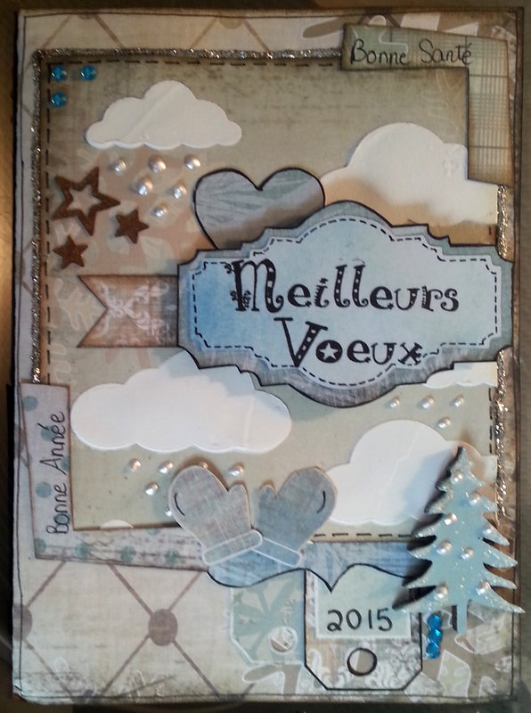 winter card outside