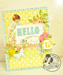 Graphic 45 - HELLO friends card