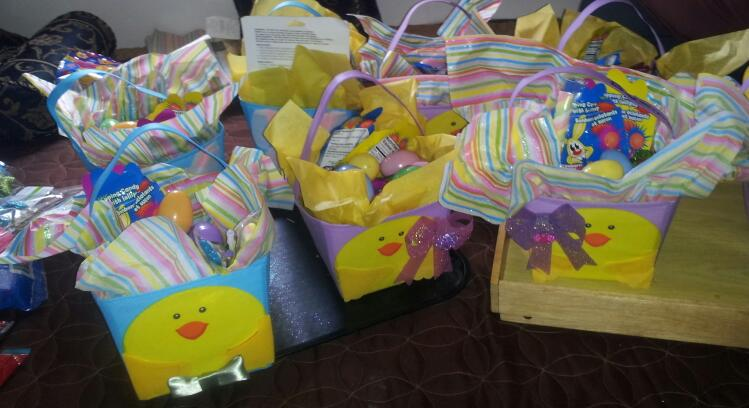 Easter Baskets for the kids..