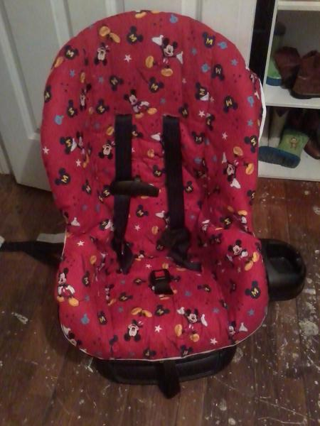 Mickey Mouse carseat cover....