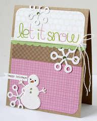Let it snow card **KI Memories**