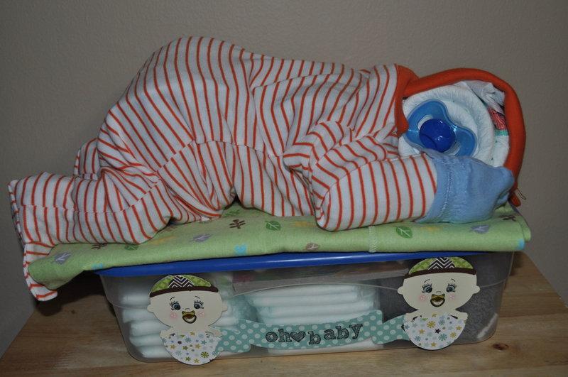 Sleeping Diaper Cake Gift