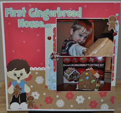 First Gingerbread House...