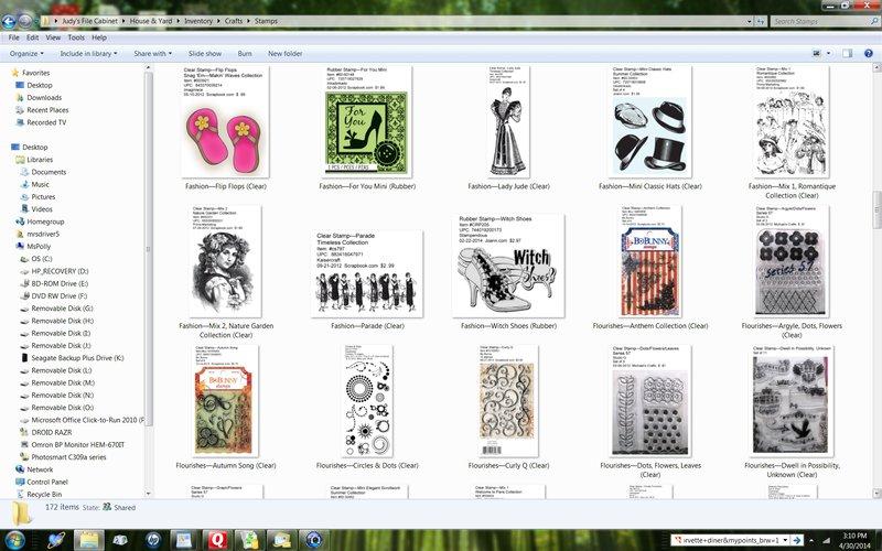 Stamp Folder Screen Shot (Extra Lg.)