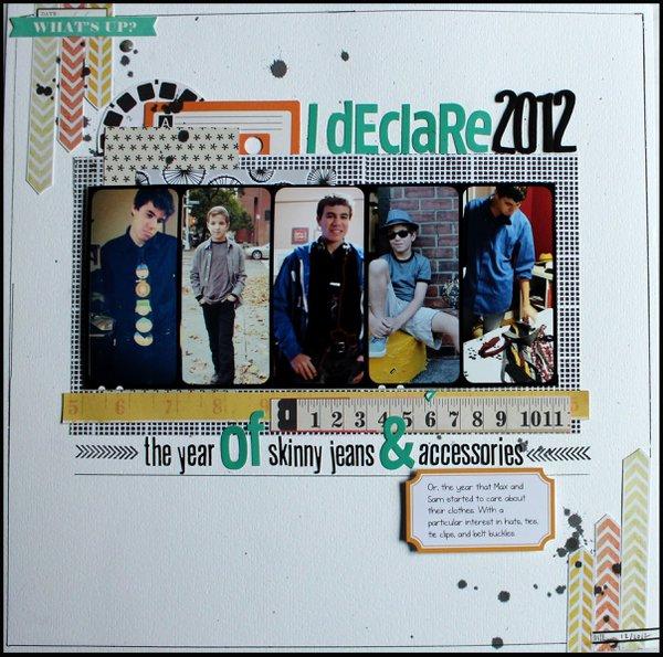 I declare 2012