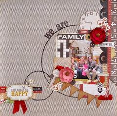 We are Family Main Kit *My Creative Scrapbook* Nov 2013