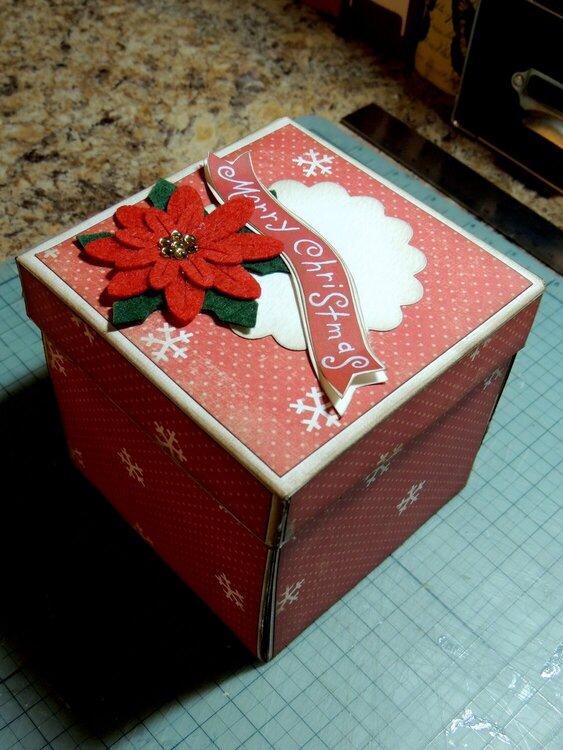 Christmas Exploding Box Gift Card Holder