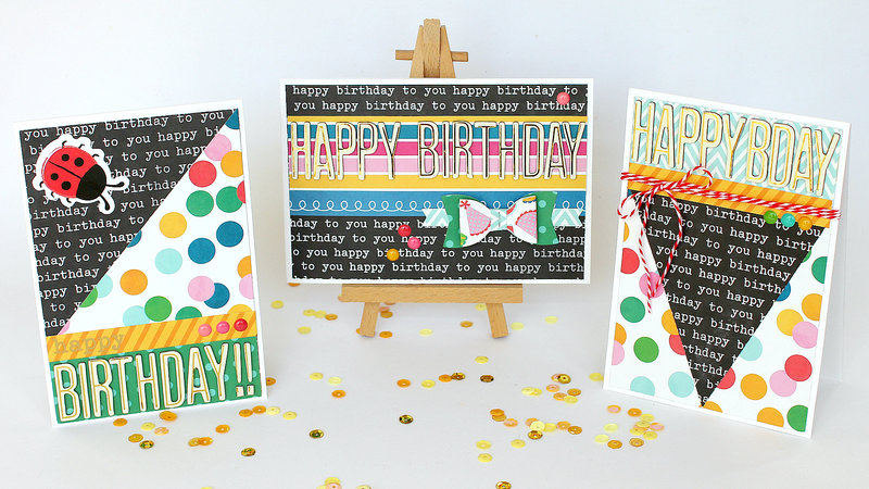 Set of Birthday Cards - Pebbles