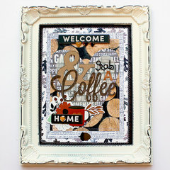 Pebbles Coffee Framed Art