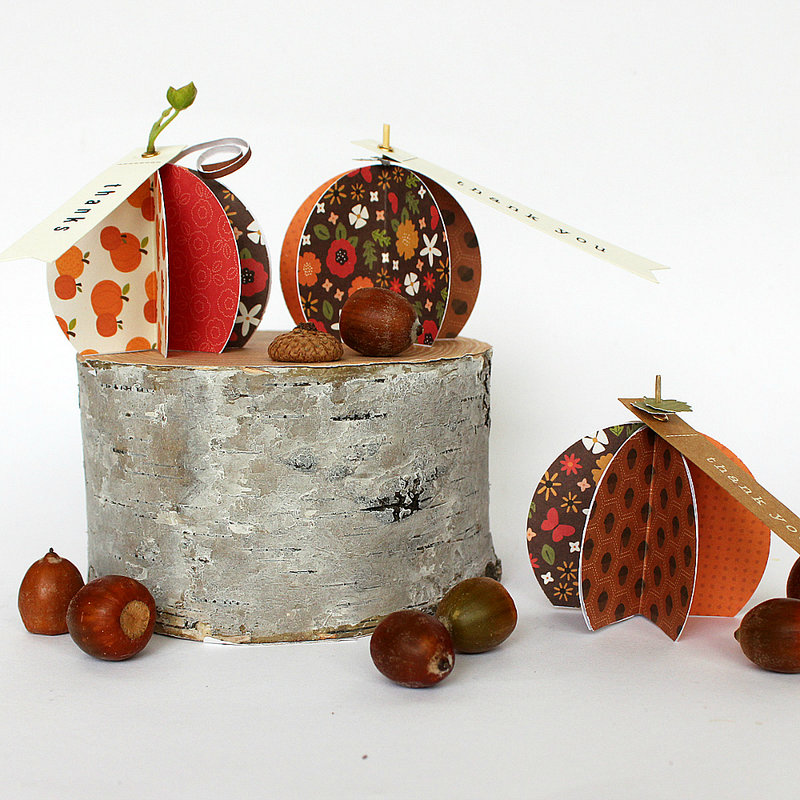 Paper Pumpkins - Pebbles Woodland Forest