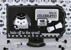 Front graduate card - Doodlebug