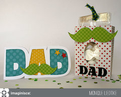 Father's Day card and treat bag - Imaginisce