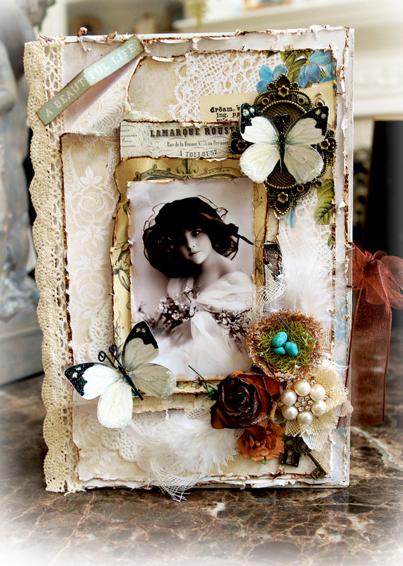 A Beautiful Life Altered Book Box * Scraps Of Elegance* September Kit~Mary's Song