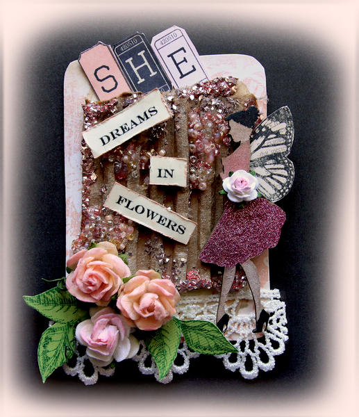 ATC She Dreams In Flowers **Scraps Of Darkness** **Scraps Of Elegance**