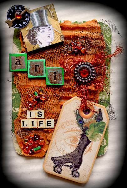 Art Is Life ATC **SCRAPS OF DARKNESS** ATC Swap