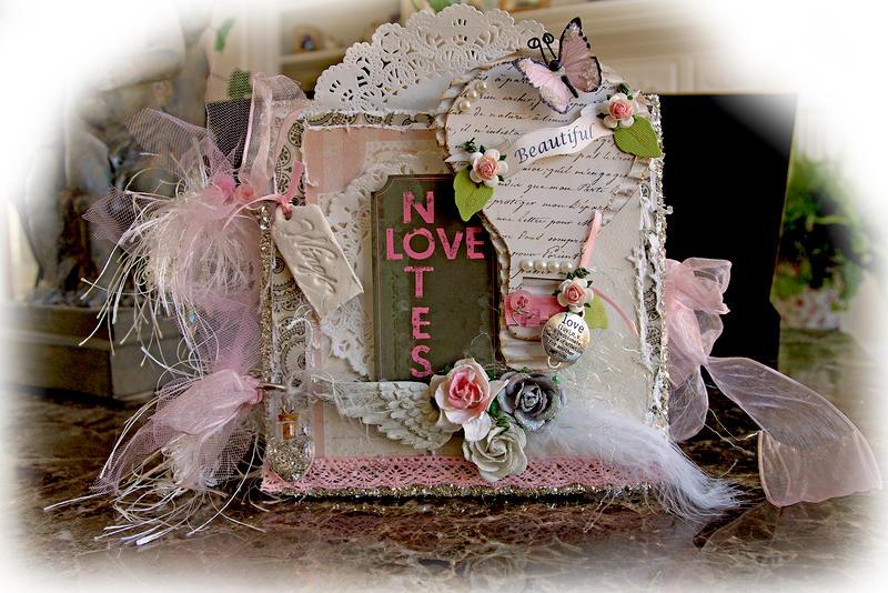 Beautiful Love Mini Album **SCRAPS OF ELEGANCE** February Kit -Love Song