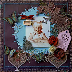 Beautiful Smile **SCRAPS OF ELEGANCE** Butterflies and Bling Challenge