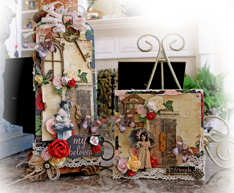 Beloved Oversized Pocket Tag & Card Set *Scraps Of Elegance* *Reneabouquets*