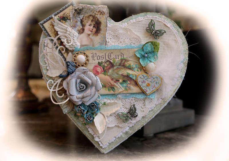 Love Letters Altered Heart Memory Box *Berry71Bleu* **SCRAPS OF ELEGANCE**