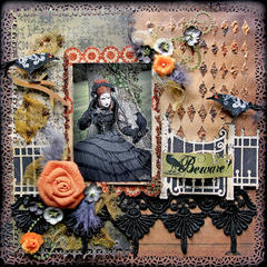 Beware **SCRAPS OF DARKNESS** October Kit-Morticia's Wish