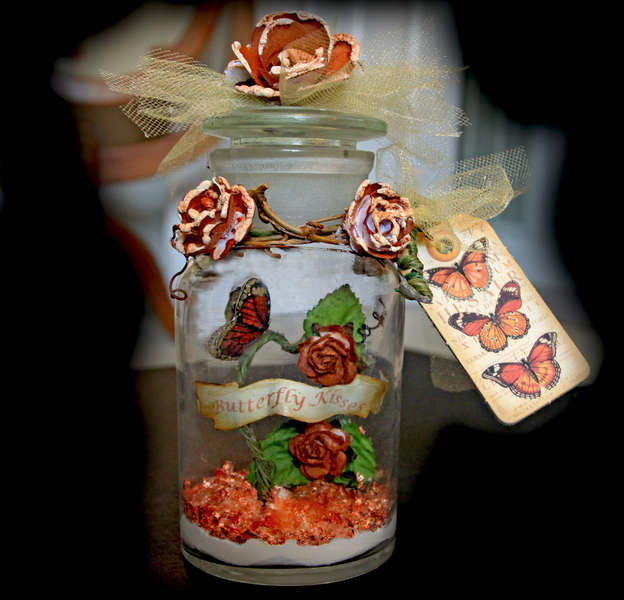 Altered Butterfly Kisses Bottle **SCRAPS OF DARKNESS** March Kit- Needful Things