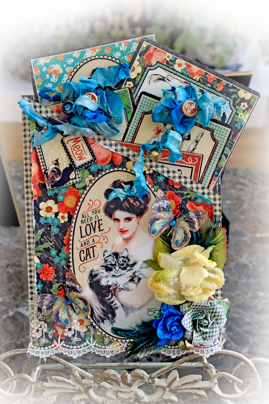 Love Is A Cat Pocket Journal *Scraps Of Elegance* *Reneabouquets*