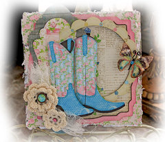 Make It In Minutes~Country Chic Card & Gift Card Holder **SCRAPS OF ELEGANCE** July Kit-Home Sweet Home