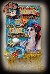Dream In Color Artist Canvas **SCRAPS OF DARKNESS** August Kit Jamaican Sunset