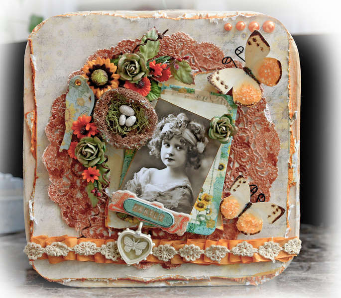 Family Altered Memory Box Top **SCRAPS OF DARKNESS** May Kit Summer Breeze